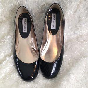 Steve Madden Black Patent Ballet Flats P-Ralli